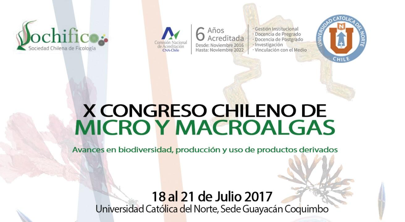 La Mar Salao X Congreso Chileno Micro Macro Algas